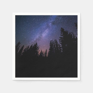 Starry Night Wedding Napkin Paper Napkin