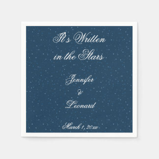 Starry Night Wedding Napkins Paper Napkin