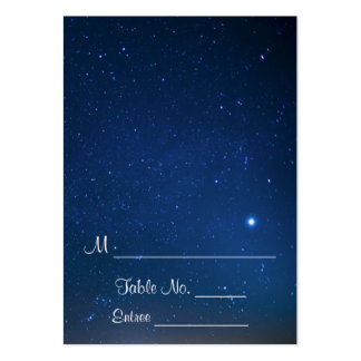 Starry Night Wedding Place Cards Pack Of Chubby Business Cards
