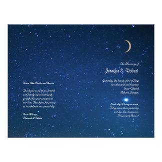 Starry Night Wedding Program 21.5 Cm X 28 Cm Flyer