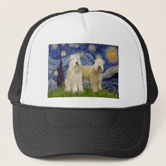 Starry Night - Wheaten Terriers (two) Trucker Hat