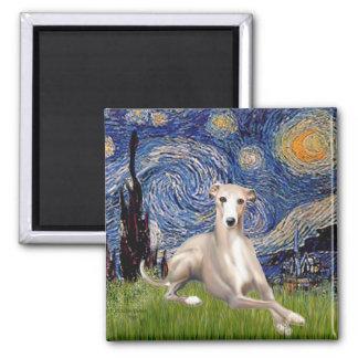 Starry Night - Whippet 2 Fridge Magnet
