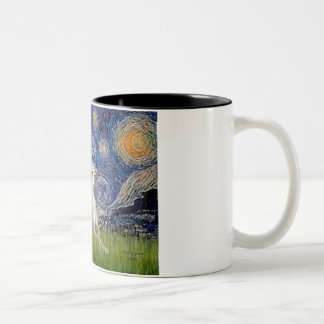 Starry Night - Whippet #2 Two-Tone Coffee Mug
