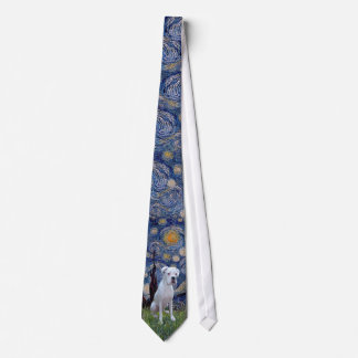 Starry Night - White Boxer Tie