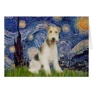Starry Night - Wire Fox Terrier (M) Card