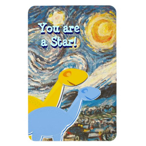 Starry Night You are a Star Cute Dinos Magnet