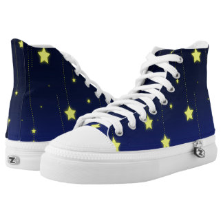 Starry Night zipz high top shoes Printed Shoes