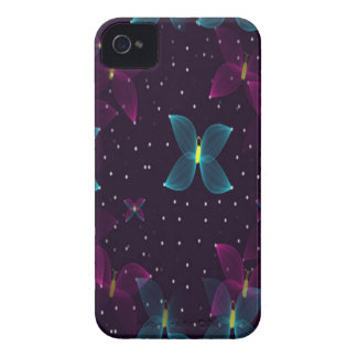 Starry Nights Purple Blue Butterfly Case-Mate Case Case-Mate iPhone 4 Case