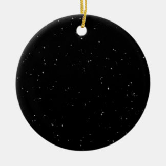 Starry nights round ceramic decoration