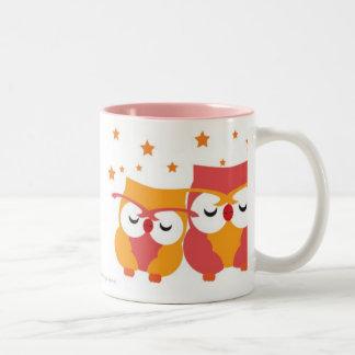 Starry Owls Two-Tone Coffee Mug