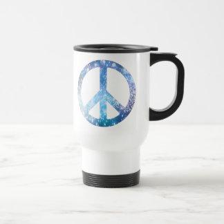 Starry Peace Sign Travel Mug