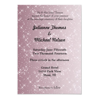 Starry Pink Abstract Personalized Invite