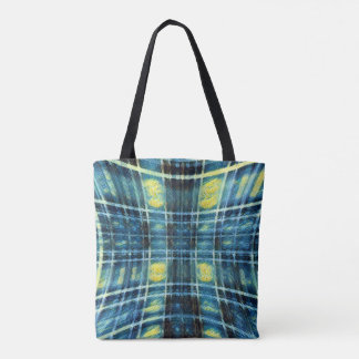 Starry Plaid Tote Bag