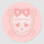 Starry Princess Round Sticker
