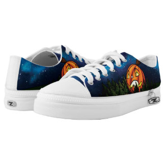 Starry Pumpkin Shoes Printed Shoes
