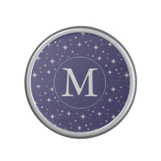 Starry Purple Monogram Speaker