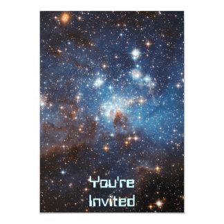 Starry Sky 13 Cm X 18 Cm Invitation Card