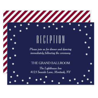Starry Sky   Crimson Stripes   Reception Details Card