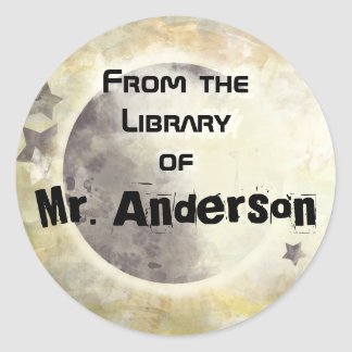 STARRY SKY - From the Library of Round Sticker