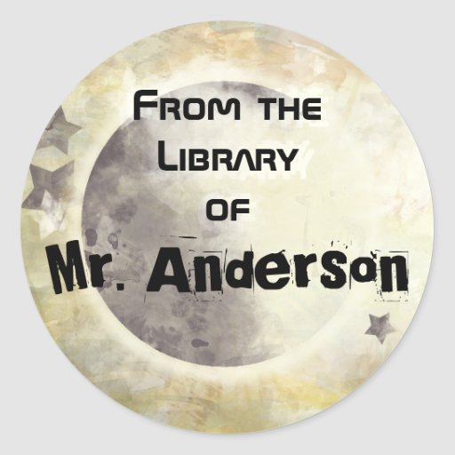 STARRY SKY - From the Library of... Round Sticker
