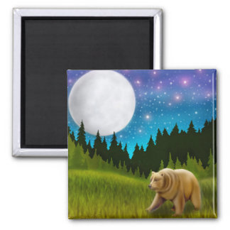 Starry Sky Grizzly Magnet