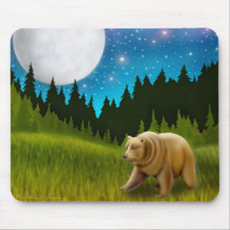 Starry Sky Grizzly Mousepad