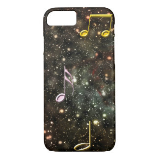 Starry Sky Musical Notes Music Melody iPhone Case