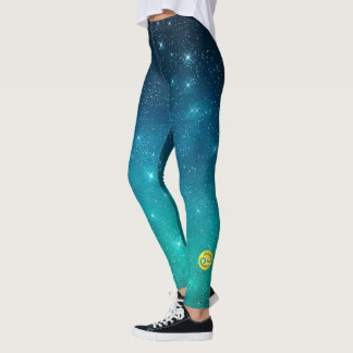 Starry Sky Zodiac Sun Sign Cancer Leggings