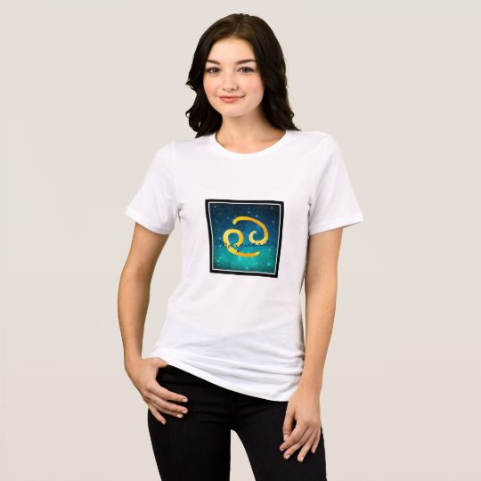 Starry Sky Zodiac Sun Sign Cancer T-Shirt
