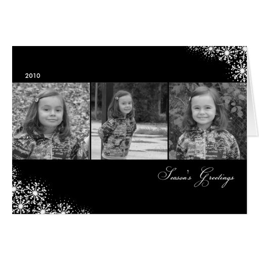 Starry Snowflakes Christmas/ Holiday Photo Cards Cards