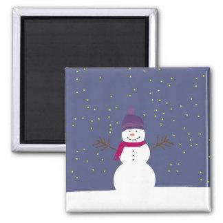 Starry Snowman magnet