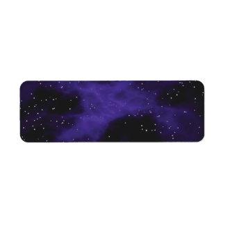 Starry Space Nebula Scene Return Address Label