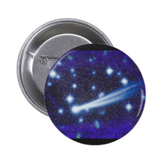 Starry Space Sky Asteroid Pinback Buttons