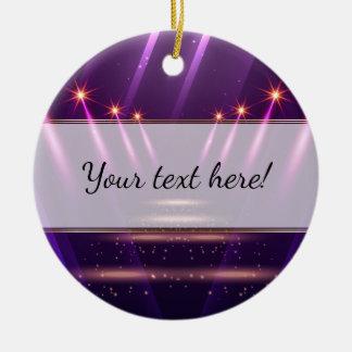 Starry Spotlights on Royal Purple Christmas Ornament