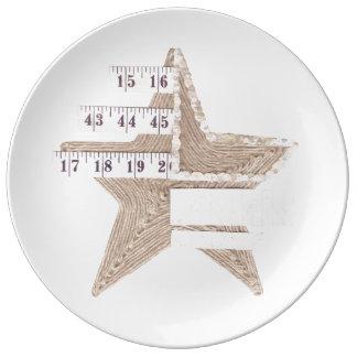Starry Star Porcelain Plate