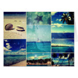 Starry Starry Caribbean Collage Large Greeting Card