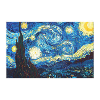 Starry Starry Night by Vincent Van Gogh Canvas Art