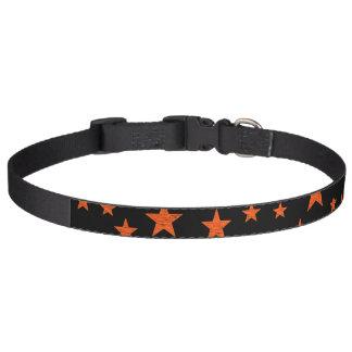 Starry Starry Night Orange Pet Collar