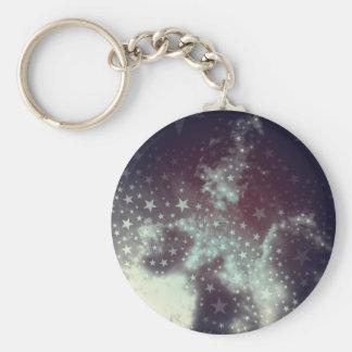 Starry, Starry Sky Basic Round Button Key Ring