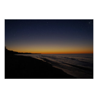 Starry Sunset Poster
