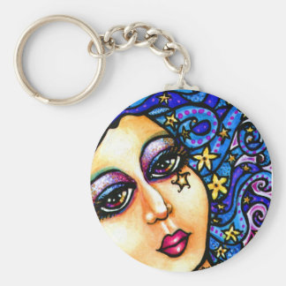 Starry Swirl Cute Swirl Girls Keychain