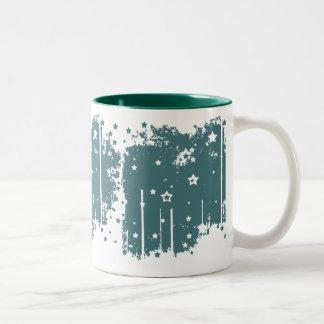 Starry Teal Two-Tone Mug