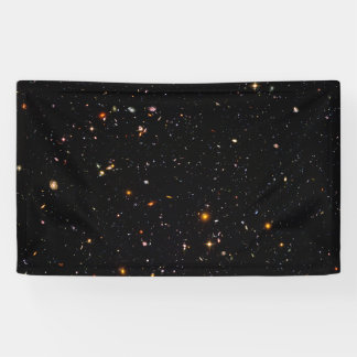 Starry universe space backdrop or template banner