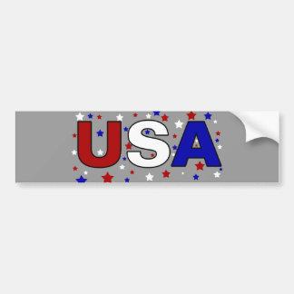 Starry USA Car Bumper Sticker