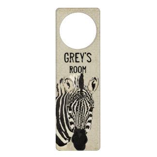 Starry Zebra Door Hanger