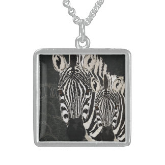 Starry Zebras Necklace