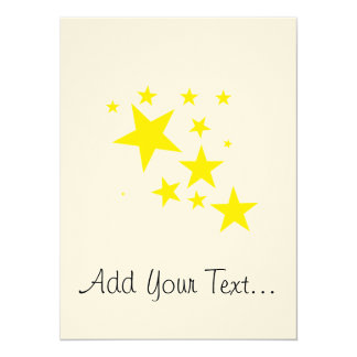 Stars 14 Cm X 19 Cm Invitation Card