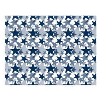 Stars 3 Dazzling Blue Postcard