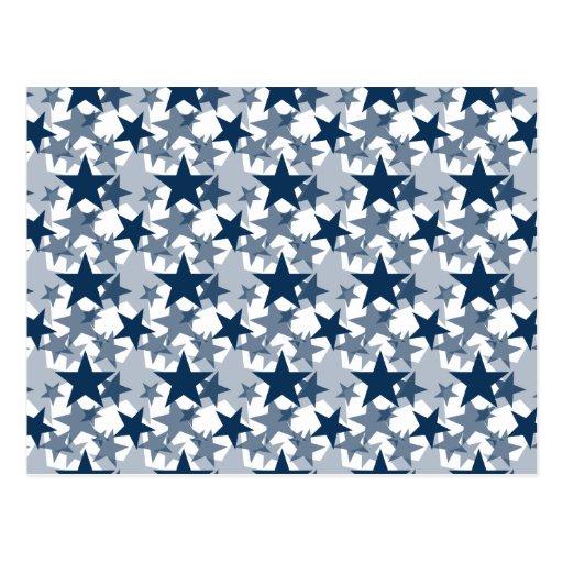 Stars 3 Dazzling Blue Post Card