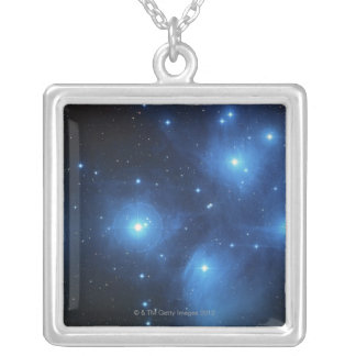 Stars 3 silver plated necklace